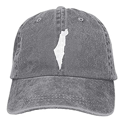 Eveler Denim Baseball Cap Israel Island Map Men Snapback Caps Adjustable Dad Hat