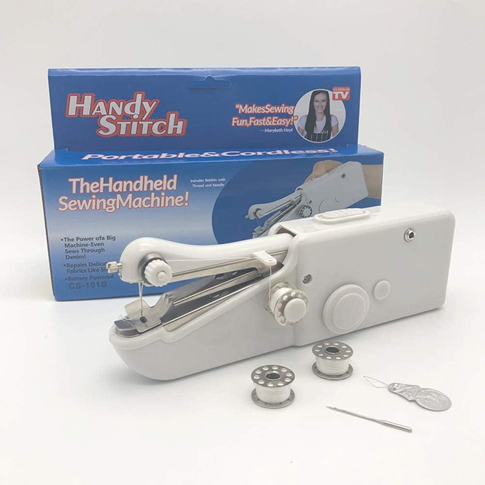 HEIFEN Máquina de Coser para Principiantes, pequeños electrodomésticos, Simple, Multi-función, portátil, con Pilas