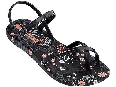 76ad61030031 Ipanema Brasil Fashion Sandal 21 Black Flower Womens Sandals Size UK 3