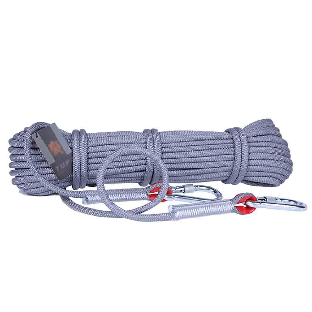 A équipement d'escalade Ligne de vie auxiliaire antidérapante résistante à l'usure, corde auxiliaire d'escalade supérieure optionnelle for extérieur multiCouleure, corde auxiliaire d'évacuation de secours 50