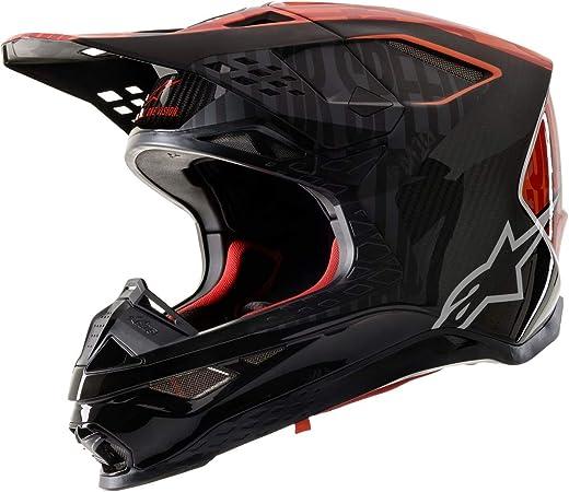 Black//Small Alpinestars Supertech M10//M8 Crown Pad Off-Road Motorcycle Helmet Accessories