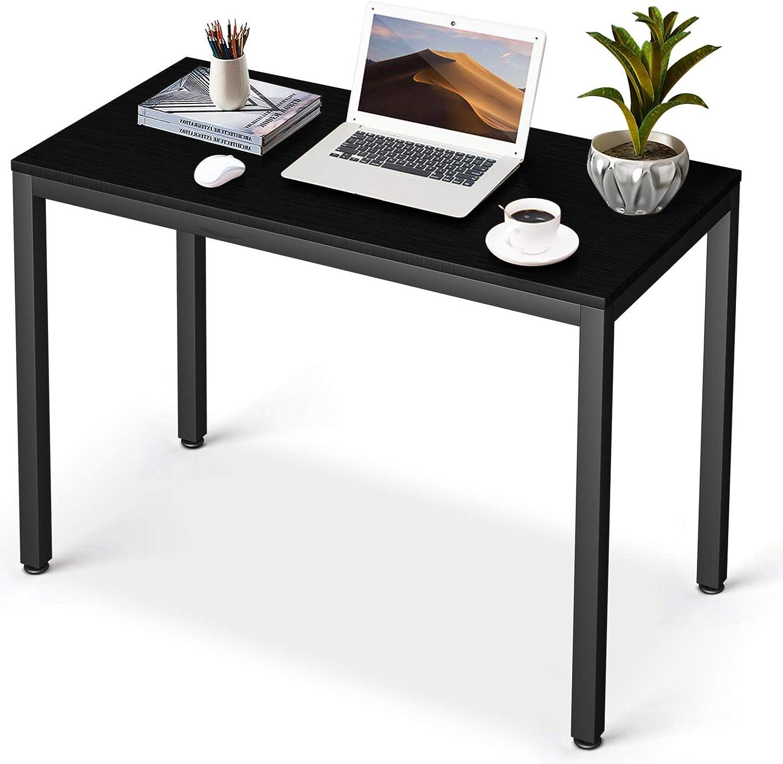 Simple PC Laptop Table Study Writing Computer Desk Black Workstation