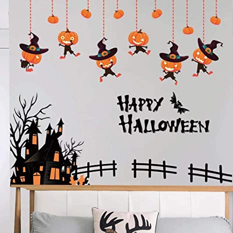 Buy Iwallsticker Diy Happy Halloween Sticker Wall Decals Pumpkin