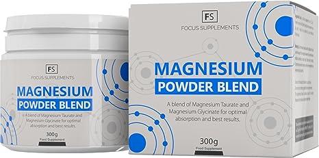 Magnesium Powder Blend - 50:50 de Glicinato y Taurato de Magnesio - Suplemento de
