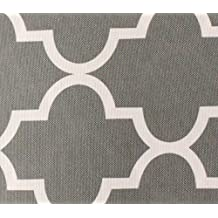 "Indoor/Outdoor Waterproof Moroccan Mosaic Canvas Fabric GREY UV Resistant 60"" Wide Sold by the yard"