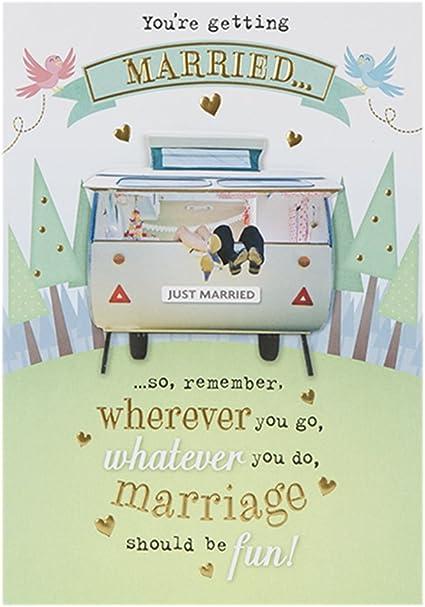 Hallmark - Tarjeta de felicitación de boda (tamaño mediano, 3D ...
