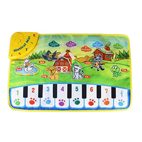 YAHAMA Tappeto Musicale Bambini Pianoforte Tappeto Musicale Tastiera Giocattolo  per Bambini a3f391420bf2