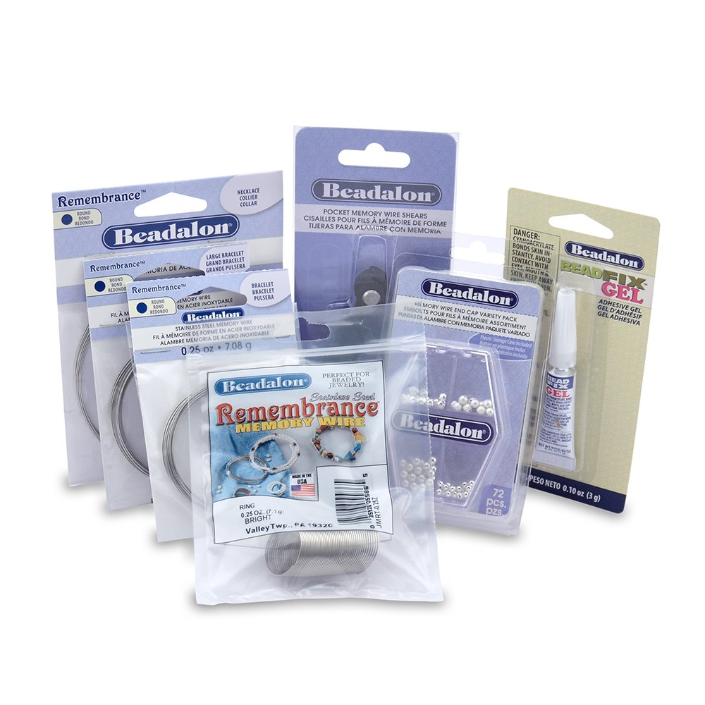 Beadalon Memory Wire with End Caps Kit JKT0006