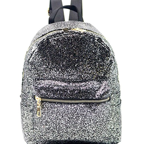 Clearance Satchel School Bag,Rakkiss Backpack Bag Women Fashion School Style Sequins Travel Bookbags Travel Bags -
