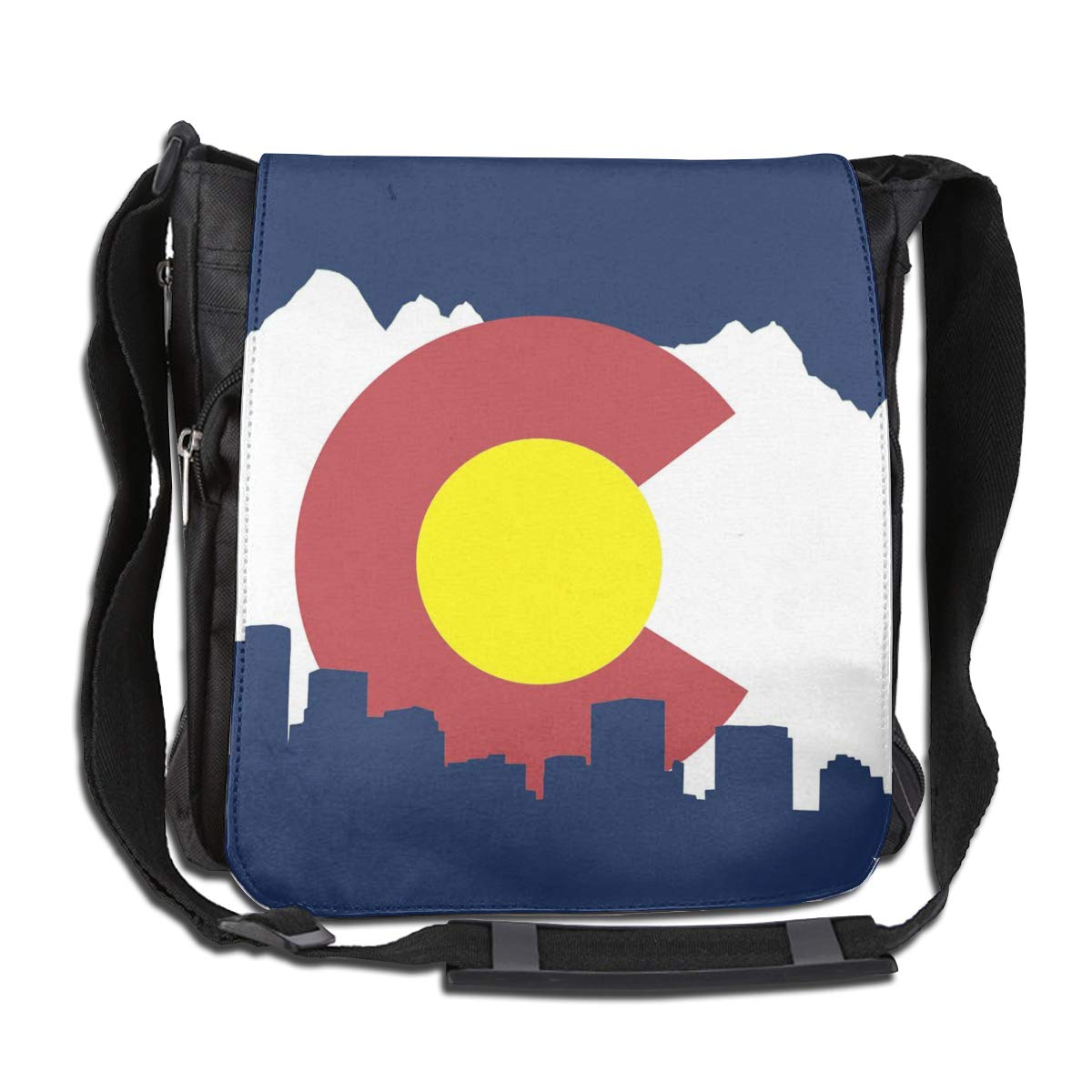 Colorado State Flag Crossbody Shoulder Bag Durable Casual Daily Messenger Bag Satchel School Bag For Women And Men