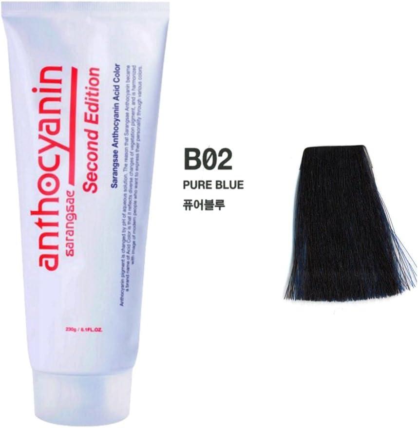 Sarangsae Proteína Vegetal tentador protección UV tinte permanente semi pura manicura antocianina color de pelo Segunda edición 230G B02 para B02 azul ...