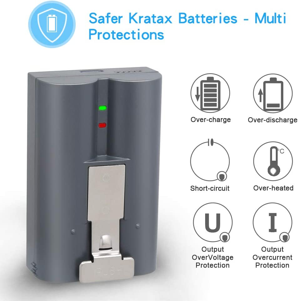 Spotlight Cam for Ring Rechargeable Battery Kratax 6200mAh high-Capacity Lithium-ion Rechargeable Battery with Charger Compatible with Ring Video Doorbell Stick Up Cam and Peephole Cam doorbell