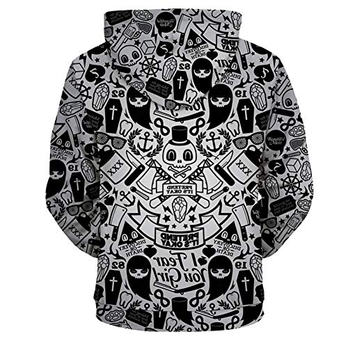 Aassdd Hombres Graffiti S Abrigo Hop Cremallera Streetwear Sudaderas 3d Hip Impresión BwBpq4C