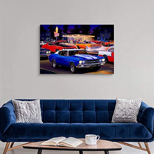 Fast Fred's Ice Cream Canvas Wall Art Print