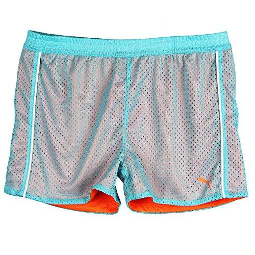 Puma Big-Girls Mesh Athletic Breathable Tech Active Yoga Gym Playground Shorts Blue