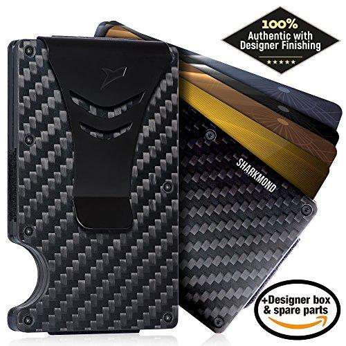12 Pocket Credit Wallet (Minimalist Carbon Fiber RFID Blocking Slim Wallet Card Holder with Money Clip)