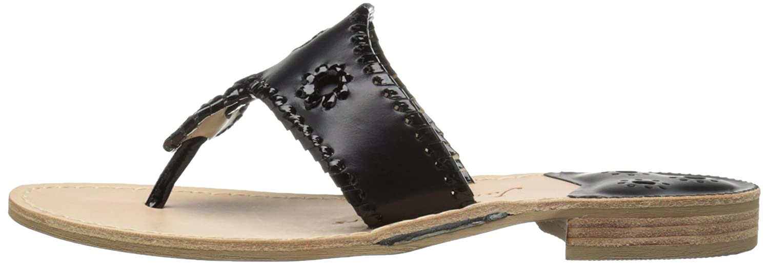 Jack Rogers Women's Sandal Palm Beach Wide Dress Sandal Women's B00JBK4C8Q 10 W US|Black 086366