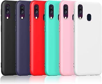 Funda Silicona lisa Roja para Samsung Galaxy A40