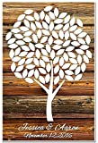 Personalized Guestbook Poster, Guestbook Alternative, Signing Tree with 100 leaves. Wedding Memory Signature Keepsake Gift. Signature Tree.