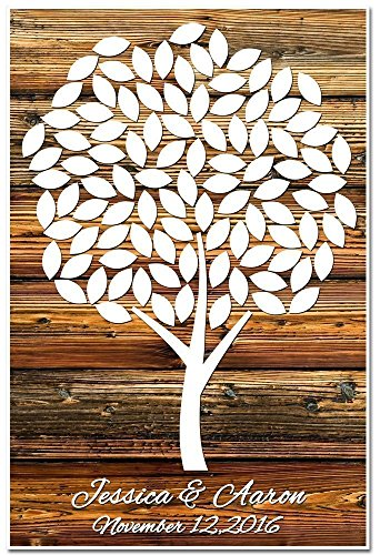 Personalized Guestbook Poster, Guestbook Alternative, Signing Tree with 100 leaves. Wedding Memory Signature Keepsake Gift. Signature Tree. by Paper Blast