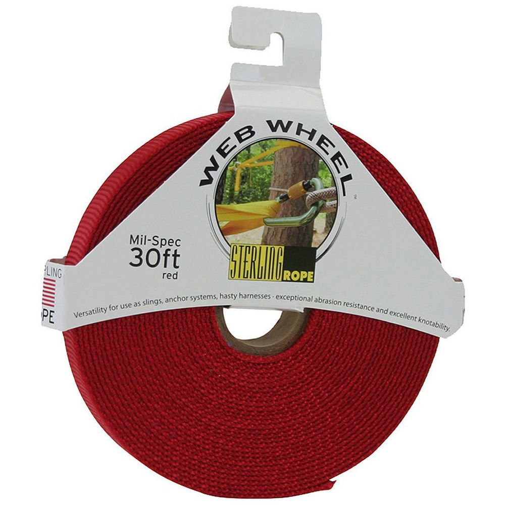 Sterling Ropes STERLING 1'' TechTape Web Wheel 30' Red One Size by Sterling