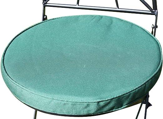 Cojín para muebles de jardín - Cojín redondo para silla bistro - Color verde: Amazon.es: Jardín