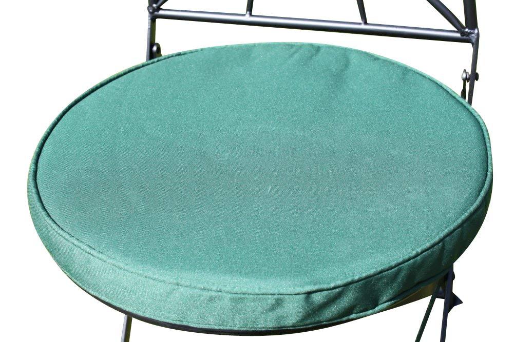 Cojí n para muebles de jardí n - Cojí n redondo para silla bistro - Color verde Garden Market Place