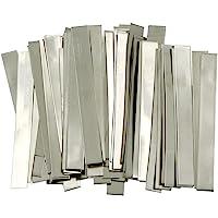 Tira de níquel puro: 0,15 x 6 x 50 mm, 99,6% níquel para batería de litio de alta capacidad, Li-Po, NiMh y NiCd, batería y soldadura por punto, 50 unidades, un EE. UU. Producto sólido