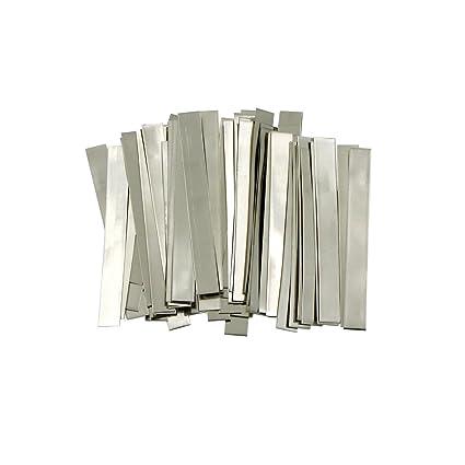 Tira de níquel puro: 0,15 x 6 x 50 mm, 99,6% níquel para ...