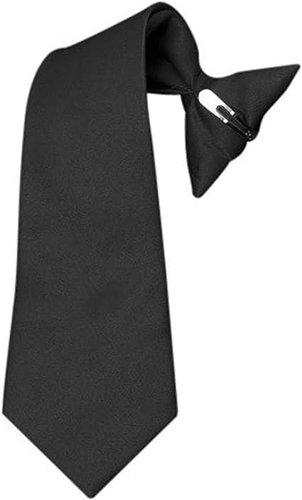 Boys Solid Color Clip on Tie Pretied For Kids Formal Neckties for Boys