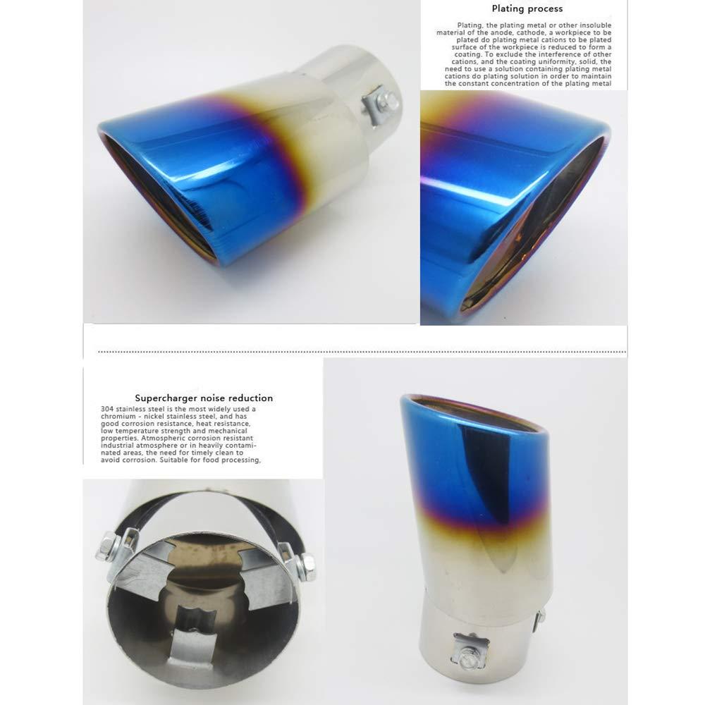 62mm Auspuffspitzen Auspuff Edelstahl Auto Auspuff Endrohr Farbe Blau