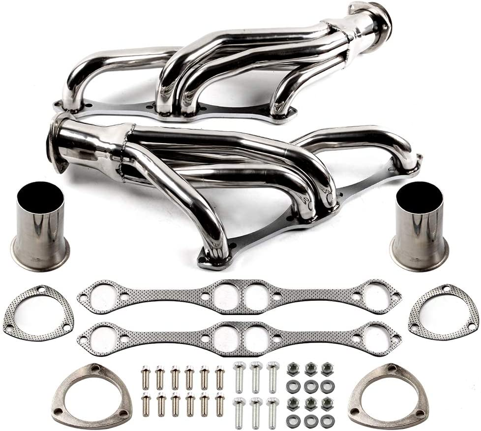 CTCAUTO Exhaust Manifold pipe Header Exhaust Stainless Steel System for 1979-1987 Buick Regal 1979-1991 Chevrolet Camaro 1979-1983 Chevrolet Malibu 1979-1981 1985-1987 Oldsmobile Cutlass