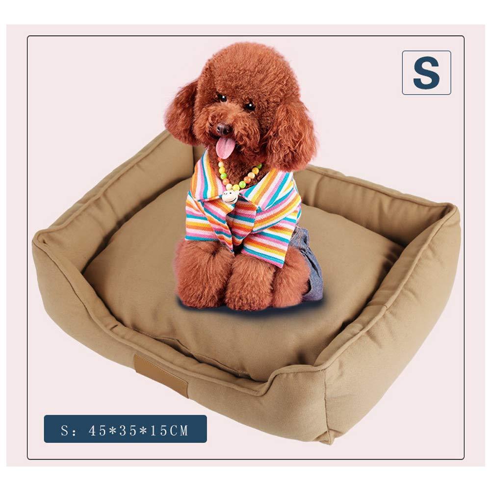 S453515cm Canvas Winter Pet Bed Mats, Warm Breathable Bite-Resistant Washable Moisture-Proof, Dog Cat Beds Pet Furniture Supplies,S4535  15Cm