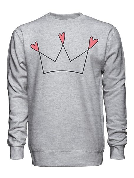 Heart Crown King Queen Royal Sudadera Unisex XX-Large: Amazon.es: Ropa y accesorios