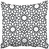 Throw Pillow Cover Square 18x18 Inches Christmas Ornamental Pattern Arabic Moroccan Fills Lattice Abstract Arab Arabesque Arabian Asia Polyester Decor Hidden Zipper Print On Pillowcases