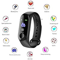 Creatif Ventures M4 Smart Fitness Band Tracker Watch Bracelet for Men, Women, Kids, Unisex and Sports Activity Tracker Waterproof Mobile Watch with Functions Like Steps Counter