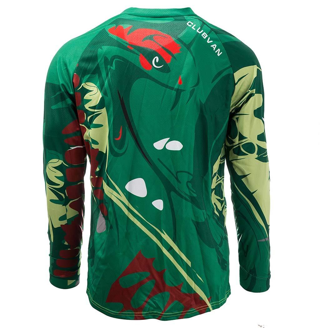 Giacca da Ciclismo Traspirante Quick-Dry Relaxed Fit Maglia da Ciclismo da Uomo CLUBVAN Maglia da Ciclismo per Bici da Strada MTB Outdoor Sports,XS