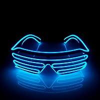 Óculos Led Neon Persiana Shutter Glass Lente Escura Para Festas, Casamentos,