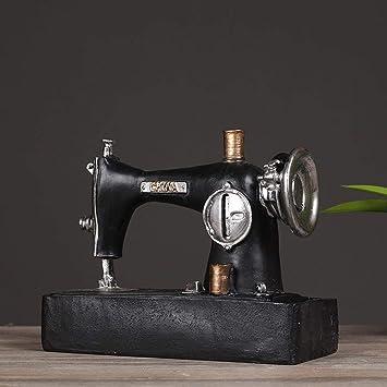 Escultura hecha a mano de resina decoración de la máquina de coser ...