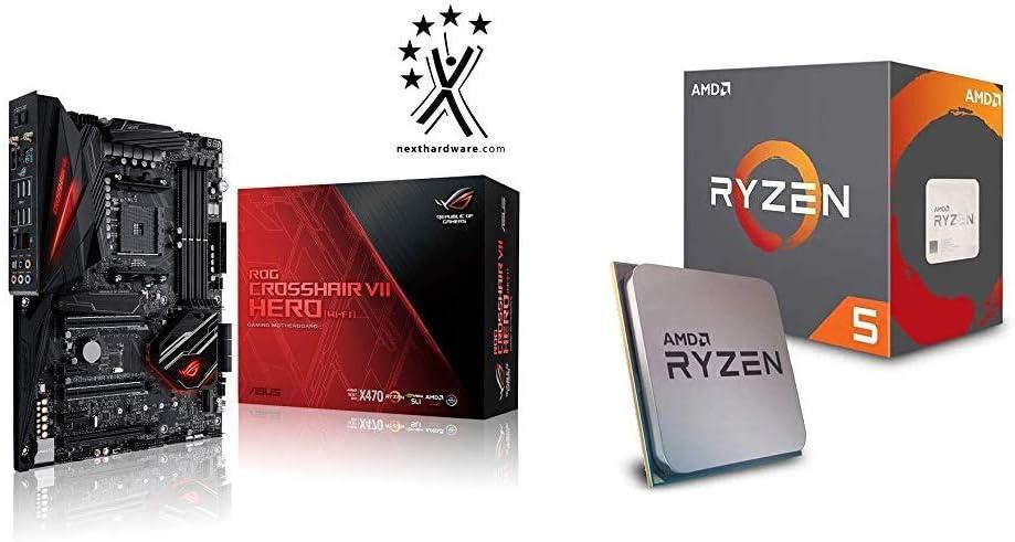 Pack Placa Base ASUS y Procesador AMD:ROG Crosshair VII Hero (WI-FI) y AMD Ryzen 5 2600X: Amazon.es: Informática