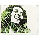 Bob Marley Men's Leaves Dreads Bi-Fold Wallet White