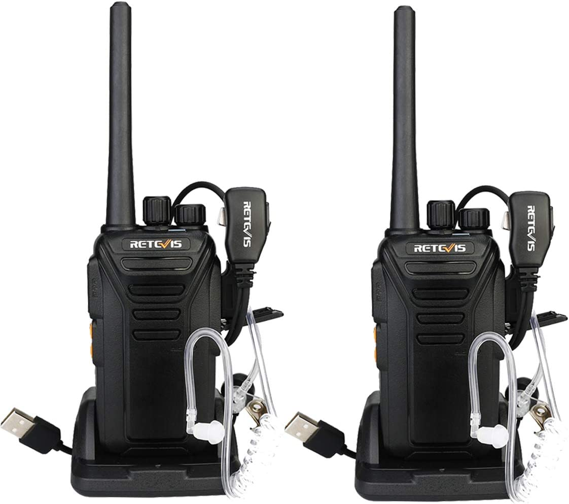 Retevis RT27V MURS Radios Handheld,Long Range Two Way Radios Rechargeable for Adults,Rugged Walkie Talkie with Earpiece Outdoor Hunting Travelling 2 Pack
