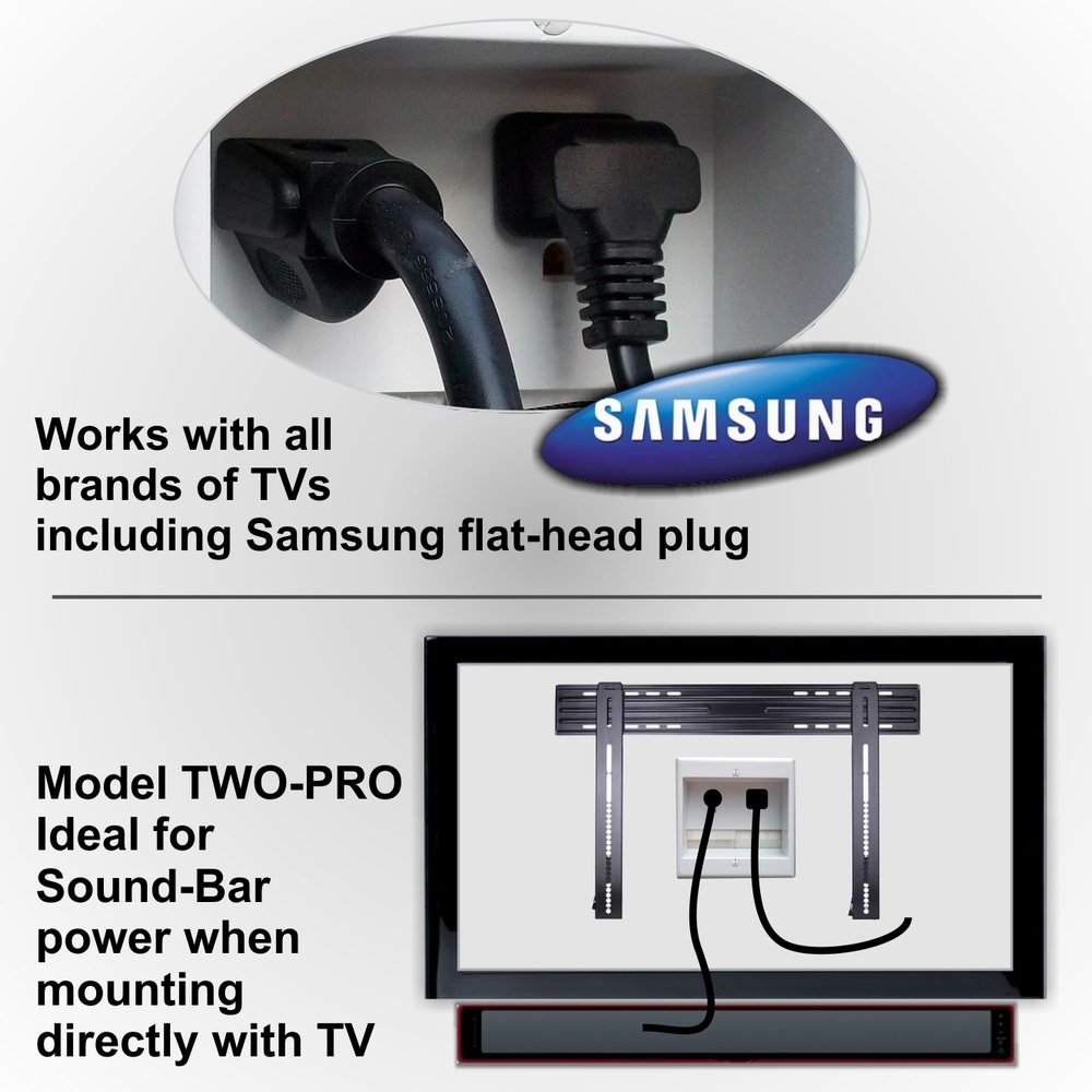 Powerbridge Solutions Two Pro 12 Dual In Wall Cable Hide Flat Screen Tv Cables An Easy Inwall Solution By Legrand Management For Mounted Tvs Romex Home Audio Theater