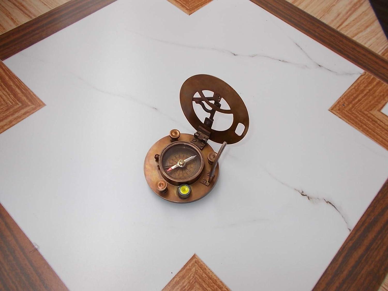 Compass Brass Sundial Beautiful Vintage Nautical Collectible Gift Replica sadaf nautical store