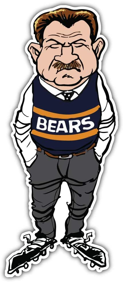 Chicago Bears NFL Mike Ditka Car Bumper Sticker Decal 3 X 6