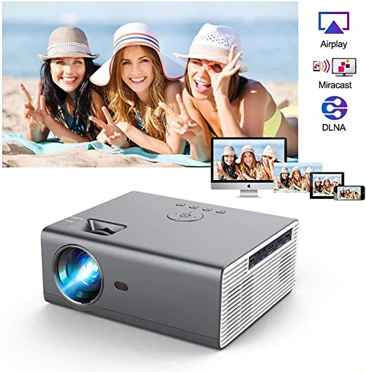 Proyector Bluetooth LED inalámbrico 8000 Lumen 720P Proyector ...