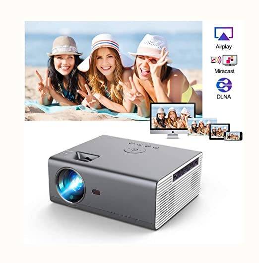 Proyector Bluetooth LED inalámbrico 8000 Lumen 720P ...