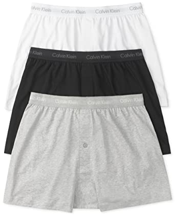 561a24ff08f7 Calvin Klein Men's 3-Pack Cotton Classic Knit Boxer, White/Black/Grey,  Small at Amazon Men's Clothing store: