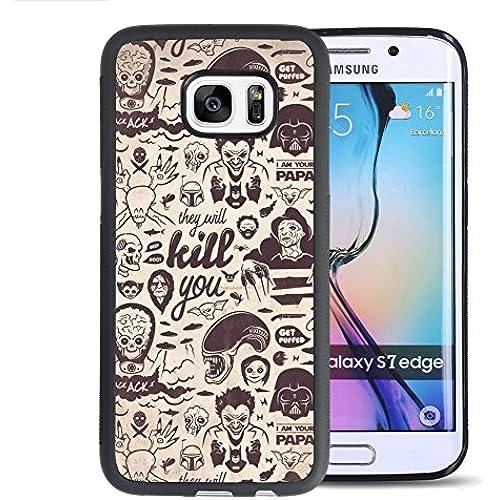 Samsung Galaxy S7 Edge Case, Onelee Customized Star Wars [Anti Slip] Black TPU and PC Samsung Galaxy S7 Edge Case, [Drop Protection] Darth Vader Galaxy Sales