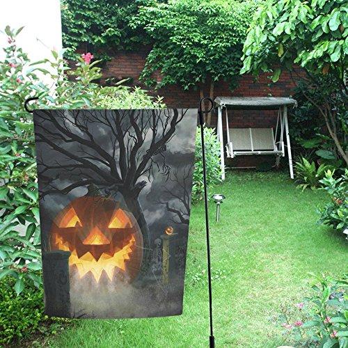 JC-Dress Garden Flag Halloween Pumpkin Tree Outdoor Flag Deocration 12